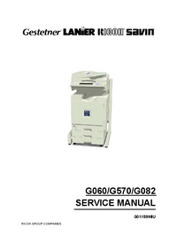 Manual de servicio Ricoh AP3800CMF