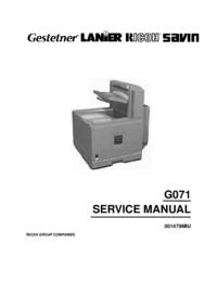 Manuale di servizio Ricoh Aficio CL5000
