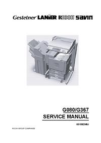 Manual de serviço Ricoh Aficio CL7000
