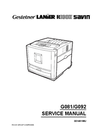 Service Manual Ricoh CL3000