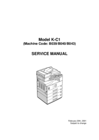 Service Manual Ricoh K-C1