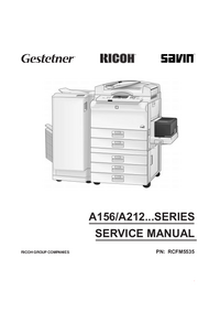 Manual de servicio Ricoh A156