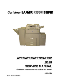 Service Manual Supplement Ricoh A293P