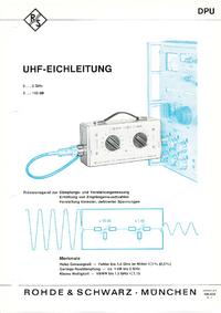 Gegevensblad RohdeUndSchwarz DPU