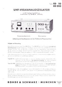 Datasheet RohdeUndSchwarz ED 10