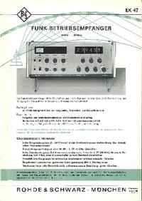 Datenblatt RohdeUndSchwarz EK 47