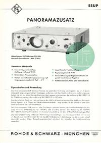 Datenblatt RohdeUndSchwarz ESUP