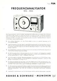 Dane techniczne RohdeUndSchwarz FUA