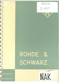 Manual del usuario, Diagrama cirquit RohdeUndSchwarz NAK 1
