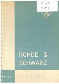Руководство пользователя, Схема Cirquit RohdeUndSchwarz SUN