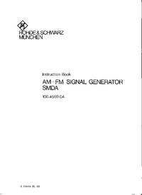 Manuel de l'utilisateur et Schéma cirquit RohdeUndSchwarz SMDA 100.4559