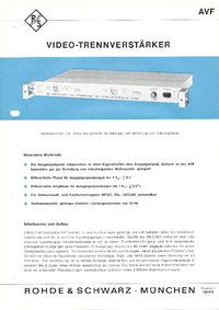 Fiche technique RohdeUndSchwarz BN 13601