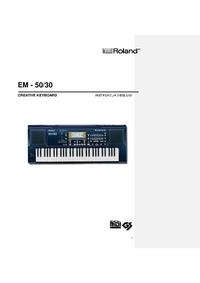 Bedienungsanleitung Roland EM-50