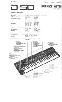 Instrukcja serwisowa Roland D-50