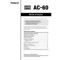 Bedienungsanleitung Roland AC-60