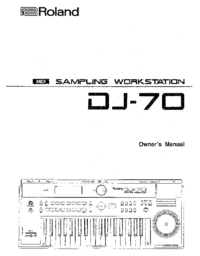 User Manual Roland DJ-70