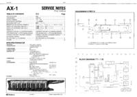Instrukcja serwisowa Roland AX-1
