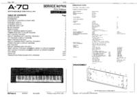 Serviceanleitung Roland A-70