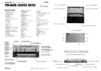 Instrukcja serwisowa Roland TR-606