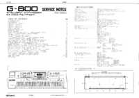 manuel de réparation Roland G-800