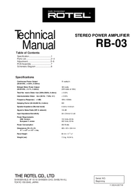 Service Manual Rotel RB-03