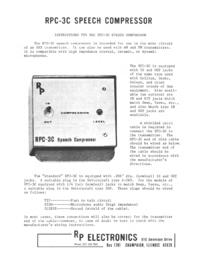 Service-en gebruikershandleiding Rpelectr RPC-3C