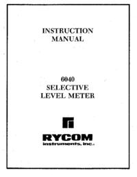 Instrukcja obsługi Rycom 6040