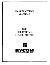 User Manual Rycom 6040