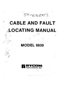 Manuale d'uso Rycom 8830