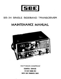 Service et Manuel de l'utilisateur SBE SB-34