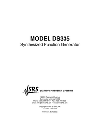 Serwis i User Manual SRS DS335