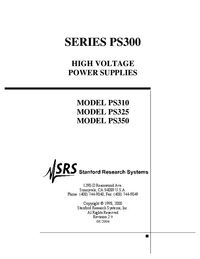 User Manual SRS PS350