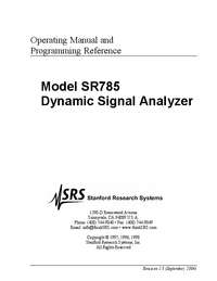 User Manual SRS SR785