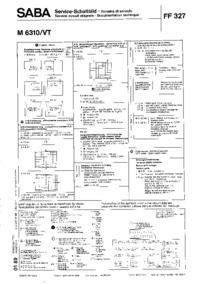 Cirquit Diagramma Saba M 6310/VT