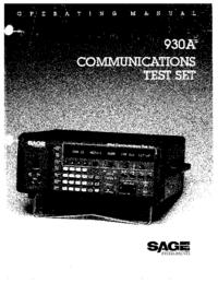 User Manual Sage 930A
