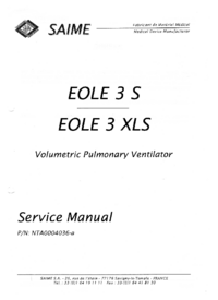 Service Manual Saime EOLE 3 S