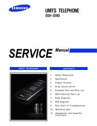 Manual de servicio Samsung SGH-Z560