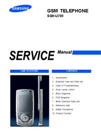 Руководство по техническому обслуживанию Samsung SGH-U700