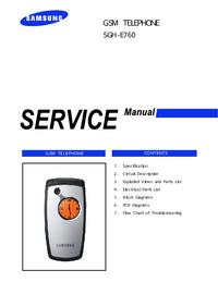 Manual de serviço Samsung SGH-E760