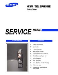 Instrukcja serwisowa Samsung SGH-G600