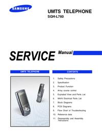 Manual de servicio Samsung SGH-L760