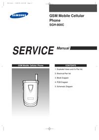 Service Manual Samsung SGH-800C