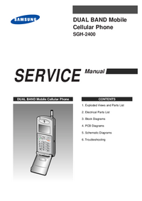 Service Manual Samsung SGH-2400