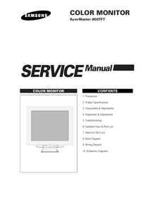 Service Manual Samsung SyncMaster 800TFT