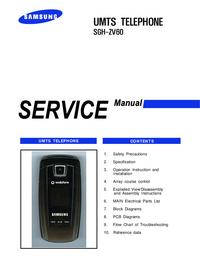 Manual de servicio Samsung SGH-ZV60