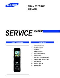 Manual de servicio Samsung SPH-A900