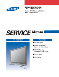 Service Manual Samsung PS42E7SX/XEC
