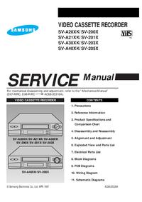 Руководство по техническому обслуживанию Samsung SV-A20XK