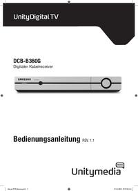 Manuel de l'utilisateur Samsung DCB-B360G