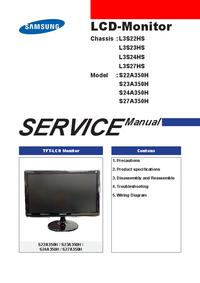 Руководство по техническому обслуживанию Samsung L3S27HS